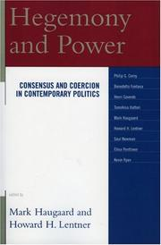 Cover of: Hegemony and Power | Haugaard Mark