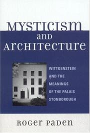 Cover of: Mysticism and Architecture