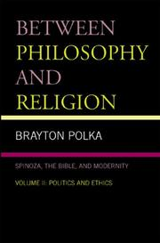 Cover of: Between Philosophy and Religion, Vol. II | Brayton Polka