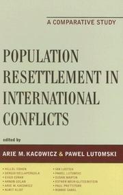 Cover of: Population Resettlement in International Conflicts | Arie M. Kacowicz