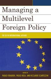 Cover of: Managing a Multilevel Foreign Policy