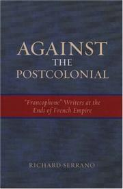 Cover of: Against the Postcolonial