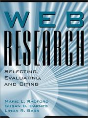 Cover of: Web research