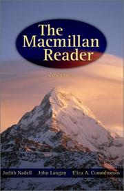 Cover of: The Macmillan reader