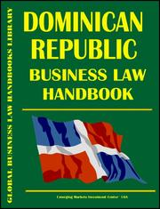 Cover of: Dominican Republic Business Law Handbook | Emerging Markets Investment Center