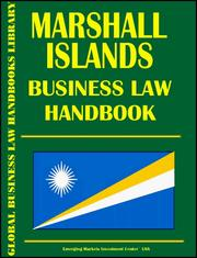 Cover of: Marshall Islands Business Law Handbook | Emerging Markets Investment Center