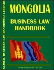 Cover of: Mongolia Business Law Handbook