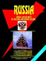 Cover of: Joint Ventures in Russia Regions