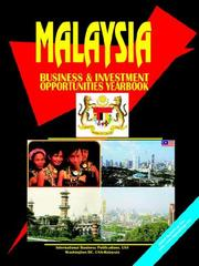 Cover of: Malaysia Business and Investment Opportunities Yearbook | USA IBP