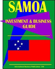 Cover of: Samoa Investment And Business Guide