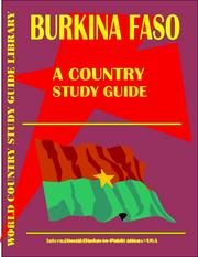 Cover of: Burkina Faso Country | USA International Business Publications