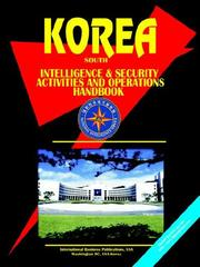 Cover of: Korea South Intelligence & Security Activities & Operations Handbook