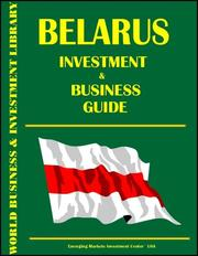 Cover of: Belarus Investment and Business Guide