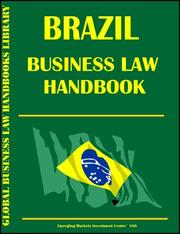 Cover of: Brazil Business Law Handbook