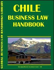 Cover of: Chile Business Law Handbook