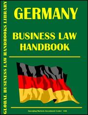 Cover of: Germany Business Law Handbook