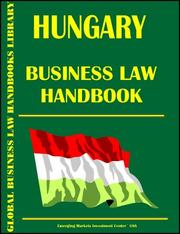 Cover of: Hungary Business Law Handbook