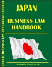 Cover of: Japan Business Law Handbook