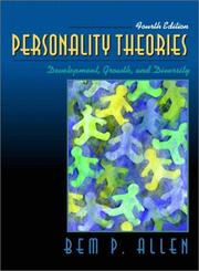 Cover of: Personality Theories