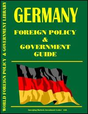 Cover of: Germany Foreign Policy and Government Guide