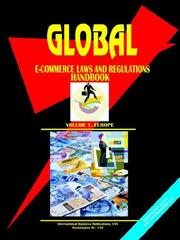 Cover of: Global E-Commerce Laws and Regulations Handbook