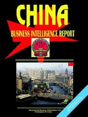 Cover of: China Business Intelligence Report | USA International Business Publications