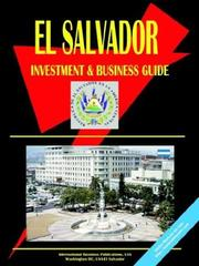 Cover of: El Salvador Investment and Business Guide | USA International Business Publications