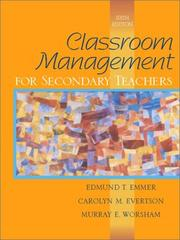 Cover of: Classroom management for secondary teachers
