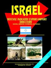 Cover of: Israel Defense Industry Export-Import Directory | USA International Business Publications
