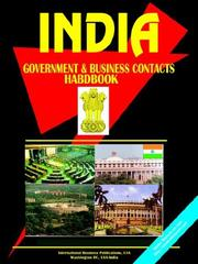Cover of: India Government and Business Contacts Handbook | Global Investment Center