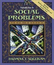 Cover of: Introduction to social problems | Sullivan, Thomas J.