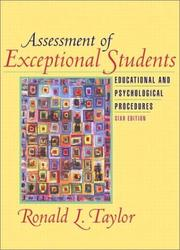 Assessment of exceptional students by Taylor, Ronald L.