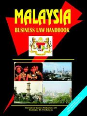Cover of: Malaysia Business Law Handbook