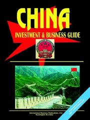Cover of: China Investment & Business Guide