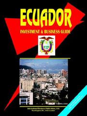 Cover of: Ecuador Investment and Business Guide