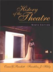 Cover of: History of the theatre