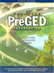 Cover of: Pre-GED Complete Preparation | Steck-Vaughn Company