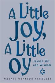 Cover of: A Little Joy, A Little Oy