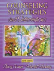 Cover of: Counseling strategies and interventions