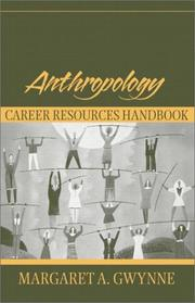 Cover of: Anthropology Career Resources Handbook