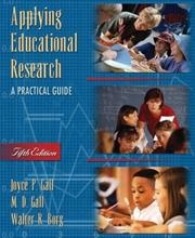 Cover of: Applying Educational Research | Joyce P. Gall