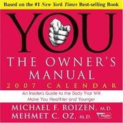 Cover of: You - The Owner's Manual 2007 Day-to-Day Calendar | Michael F. Roizen