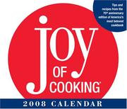 Cover of: JOY OF COOKING 2008 DTD CALENDAR | Andrews McMeel Publishing