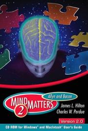 Cover of: Allyn & Bacon MindMatters Version 2.0 CD-ROM and Users Guide (2nd Edition) (Book/CD) | Hilton
