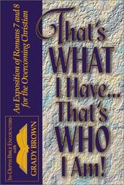 Cover of: That's What I Have