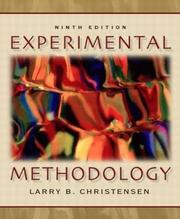 Experimental methodology by Larry B. Christensen