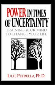 Cover of: Power in Times of Uncertainty