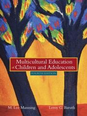 Cover of: Multicultural Education of Children and Adolescents