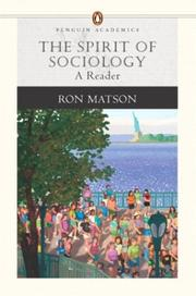 Cover of: The Spirit of Sociology