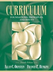 Cover of: Curriculum--foundations, principles, and issues